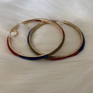 Jewelry - Gold hoop earrings multicolor